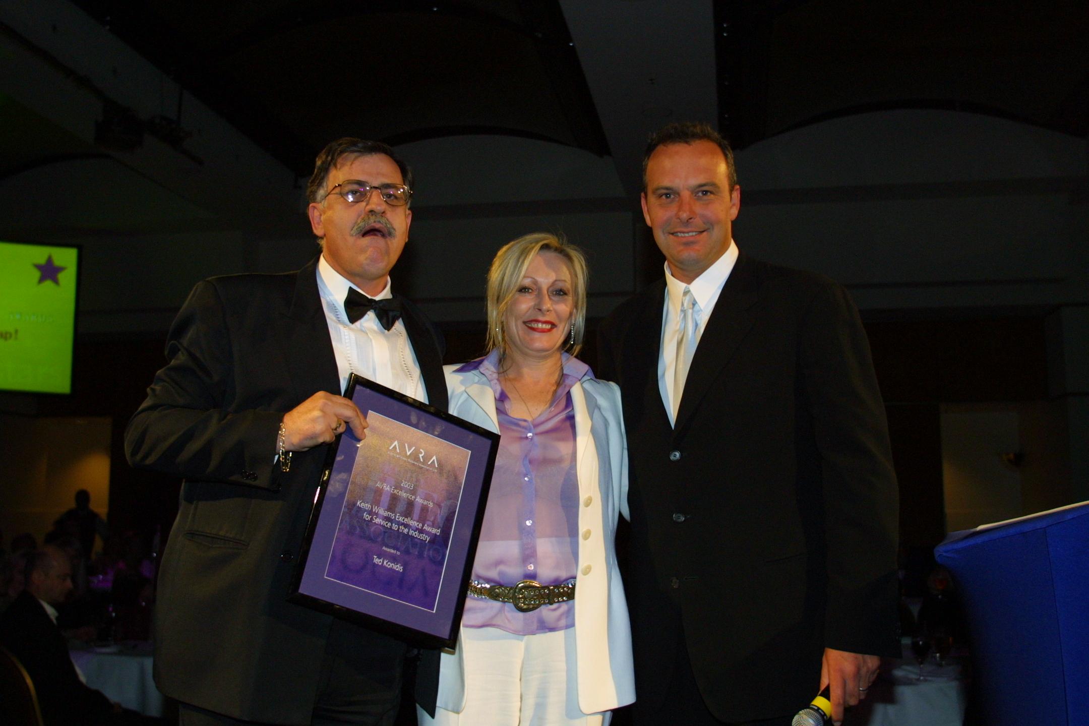 Keran, Todd and Andrew Daddo at AVRA Awards